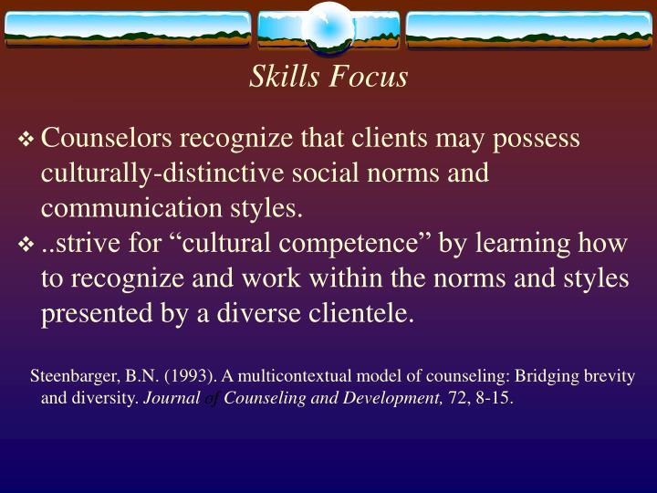 Skills Focus