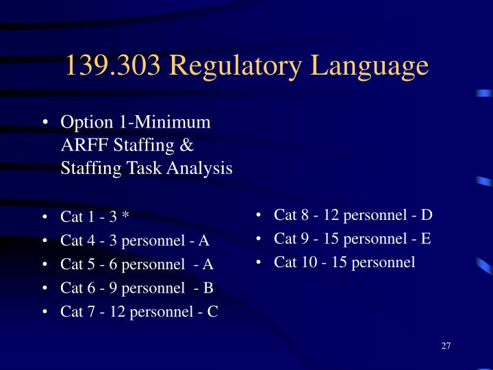 Option 1-Minimum ARFF Staffing & Staffing Task Analysis