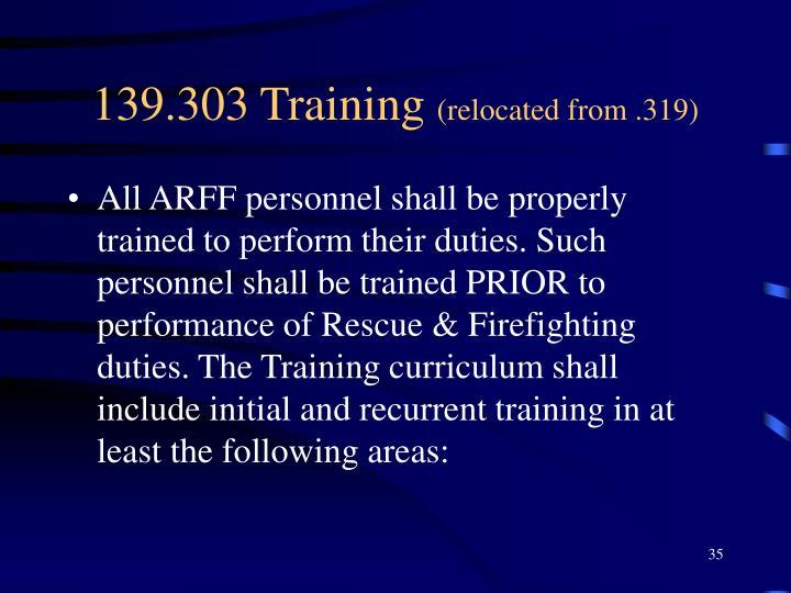 139.303 Training