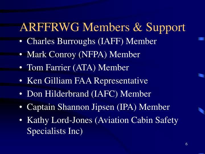 ARFFRWG Members & Support