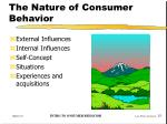 the nature of consumer behavior