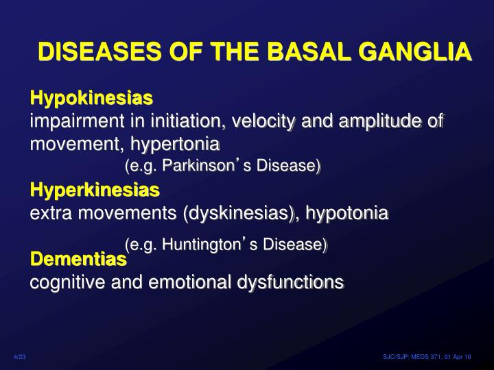 DISEASES OF THE BASAL GANGLIA