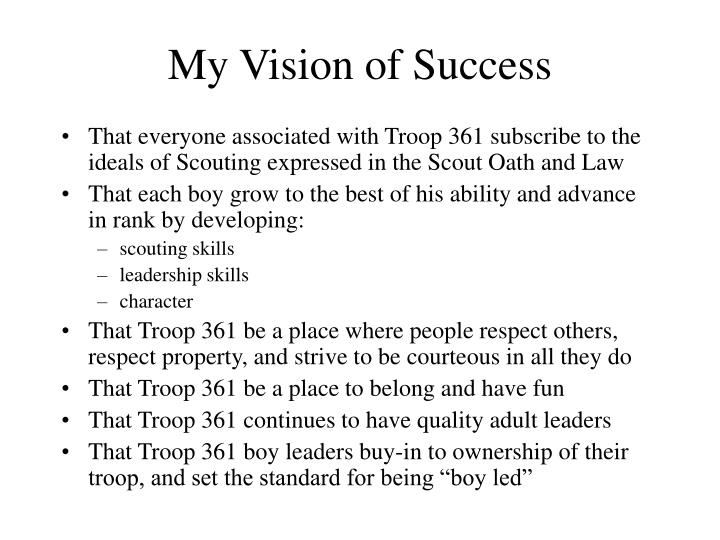 My Vision of Success