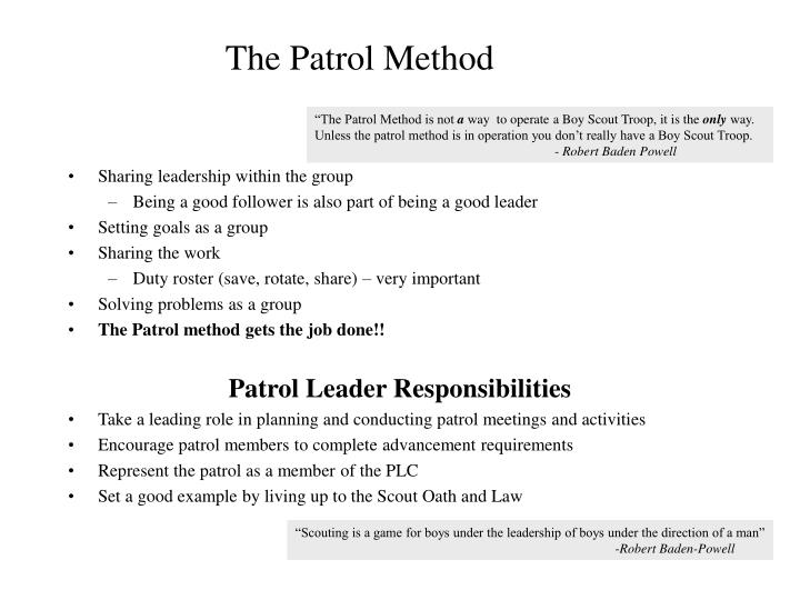 The Patrol Method