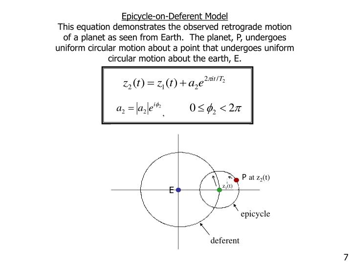 Epicycle-on-Deferent Model
