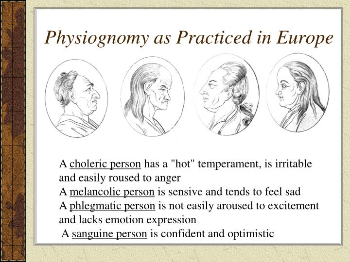 Physiognomy as Practiced in Europe