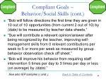 compliant goals behavior social skills cont1