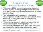 compliant goals behavior social skills cont2