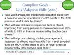 compliant goals life adaptive skills cont