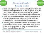 compliant goals reading cont