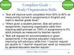 compliant goals study organization skills