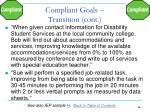 compliant goals transition cont