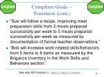 compliant goals transition cont1