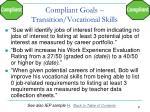 compliant goals transition vocational skills