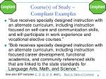 course s of study compliant examples1