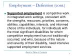 employment definition cont