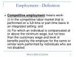 employment definition