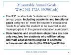 measurable annual goals wac 392 172a 03090 1 b