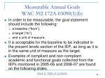 measurable annual goals wac 392 172a 03090 1 b1