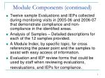 module components continued