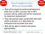 non compliant goals behavior social skills