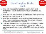 non compliant goals math