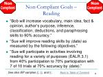 non compliant goals reading