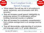 non compliant goals speech language