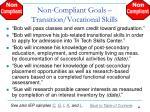 non compliant goals transition vocational skills