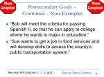 postsecondary goals combined non examples