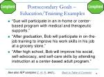 postsecondary goals education training examples1