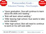 postsecondary goals education training non examples