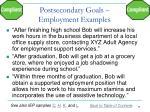 postsecondary goals employment examples1