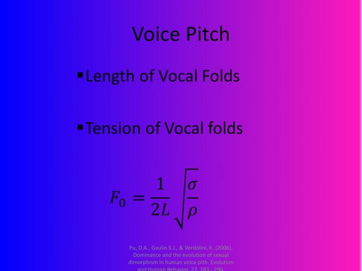 Voice pitch