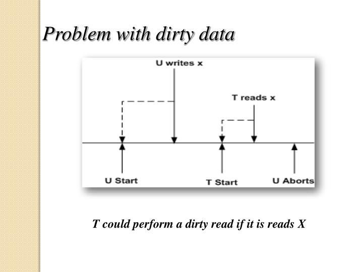 Problem with dirty data