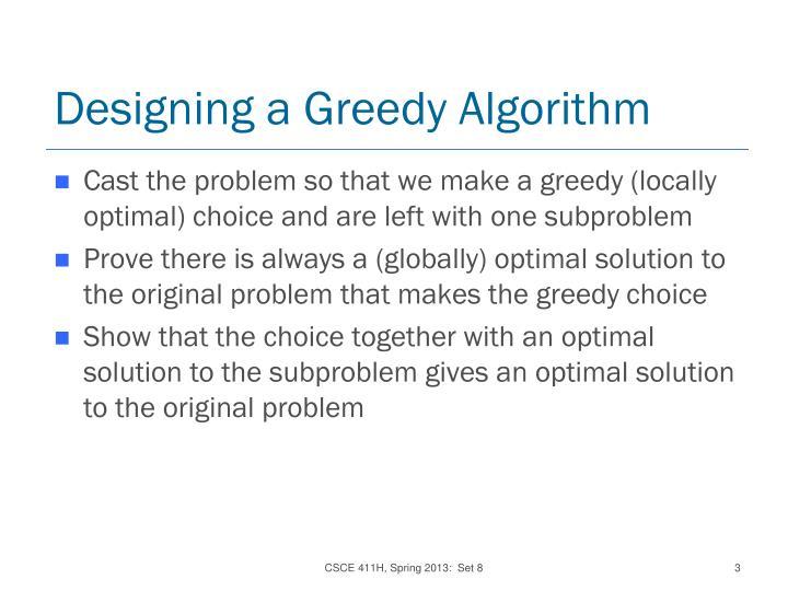 Designing a greedy algorithm