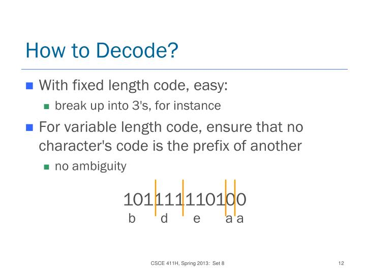 How to Decode?