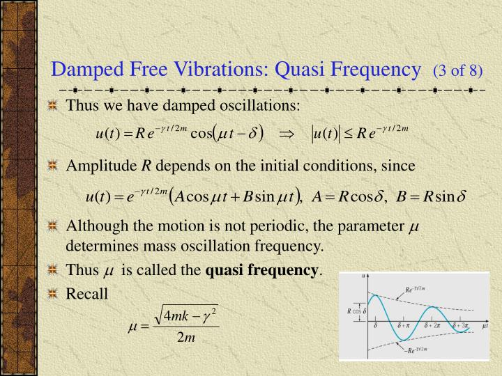 Damped Free Vibrations: Quasi Frequency