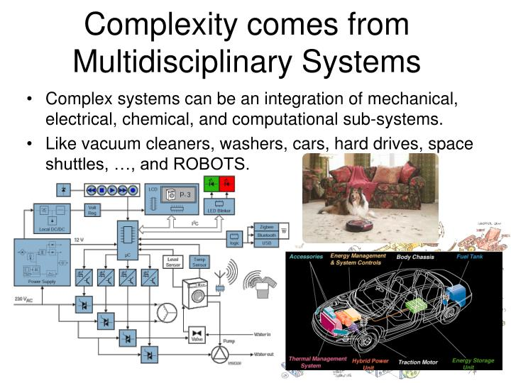 Complexity comes from Multidisciplinary Systems
