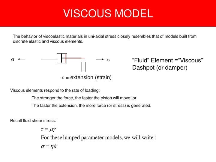 VISCOUS MODEL