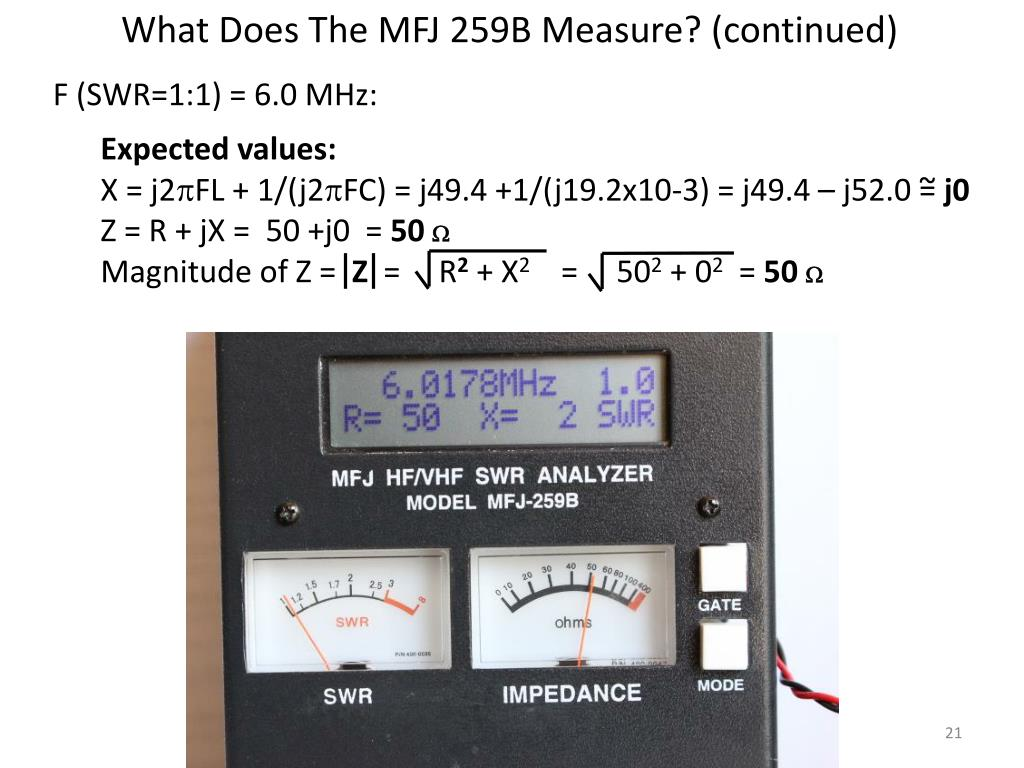 PPT - MFJ 259 Operation & Simplified Calibration PowerPoint