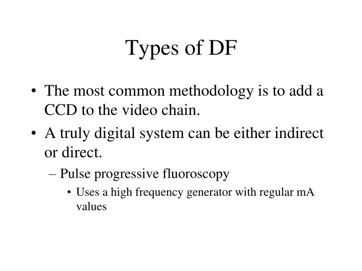 Types of df