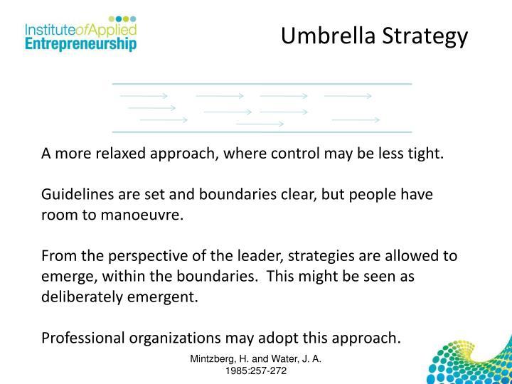Umbrella Strategy