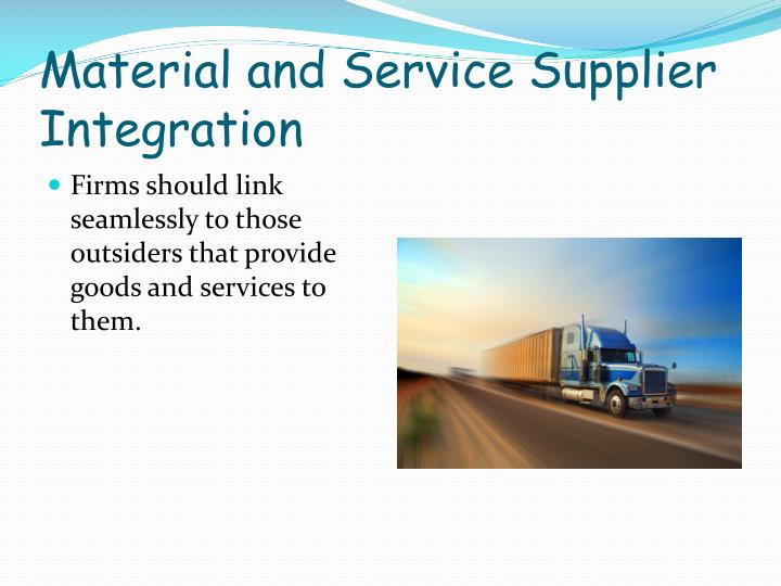 Material and Service Supplier Integration