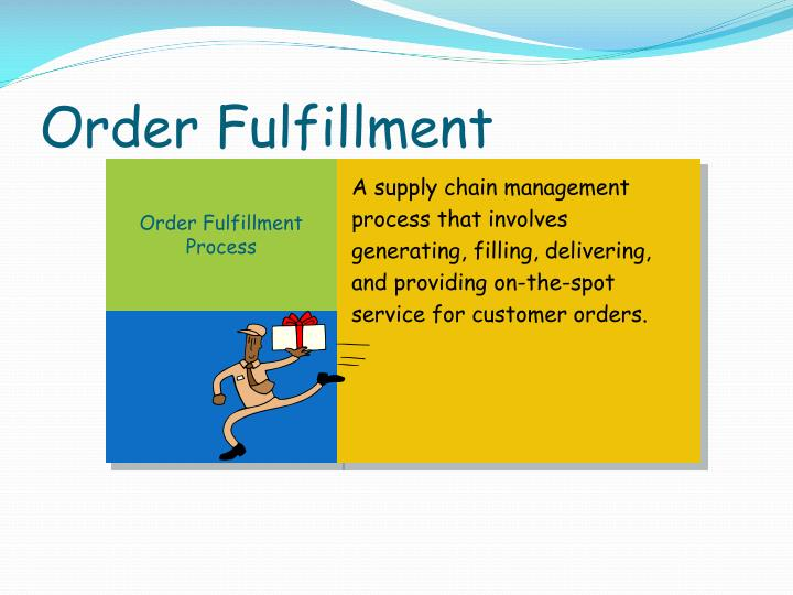 A supply chain management process that involves generating, filling, delivering, and providing on-the-spot service for customer orders.