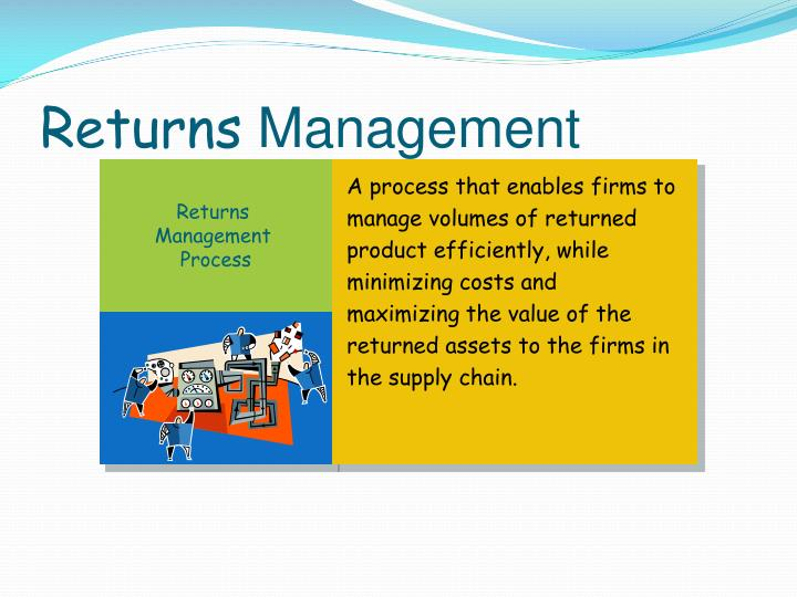 A process that enables firms to manage volumes of returned product efficiently, while minimizing costs and maximizing the value of the returned assets to the firms in the supply chain.