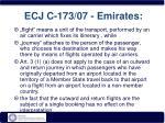ecj c 173 07 emirates