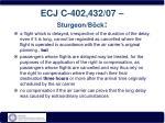 ecj c 402 432 07 sturgeon b ck