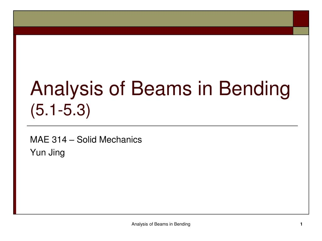 Ppt Analysis Of Beams In Bending 51 53 Powerpoint Presentation Example 1 Draw The Shear And Moment Diagrams For Beam Show 5 3 N