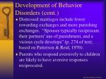 development of behavior disorders cont1